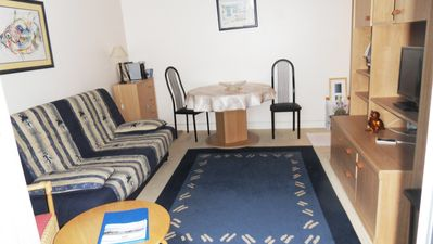 Photo for 1 bedroom apartment 160 meters from the beach, in the city center, quiet, open view
