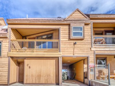 Photo for Condo with mountain views, cozy wood burning fireplace, & private gas grill!