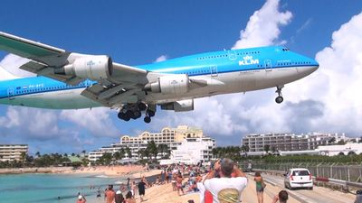The iconic St. Maarten  Landing just 100 meters away from the property.