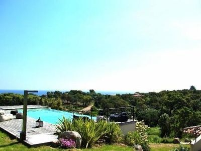 Photo for High-standard villa with air con, sea views, infinity pool and quality fittings