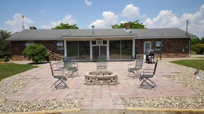 Large outdoor patio