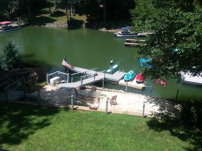 Photo for Beautiful Apt Lake Norman- Private Dock, Right on the Lake! Boat/ski rental!