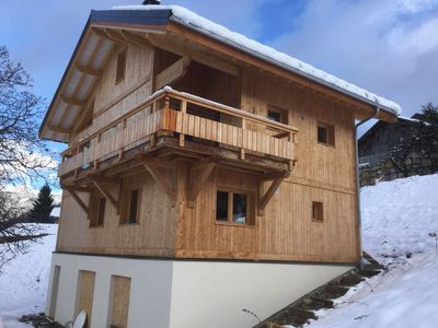 Photo for Brand new! Apartment in Valmorel ski resort chalet with Sauna
