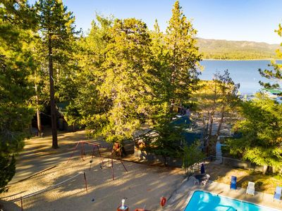 Photo for Shore Acres 19 BR Vintage Lakeside Group Lodge