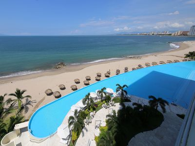 Photo for PANORAMIC OCEAN VIEW - BEACH FRONT - PENINSULA CONDO 4 BR, 4BR.
