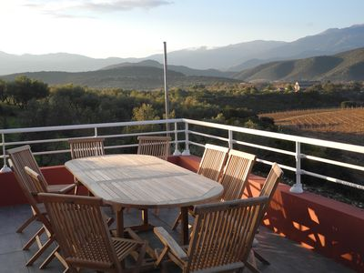 Photo for Villa 2 appart garden 900 m2 6 + 5 pers, swimming pool, calm, countryside, view, sea at 800m