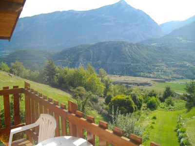 Photo for Wooded studio in chalet, quiet, superb view, nice and relaxing location