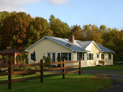 Photo for Sunlit VT Country Home w/Hot Tub.  Ideal location near Woodstock village