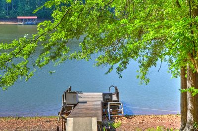 A relaxing lake retreat awaits at this waterfront Westminster vacation rental.