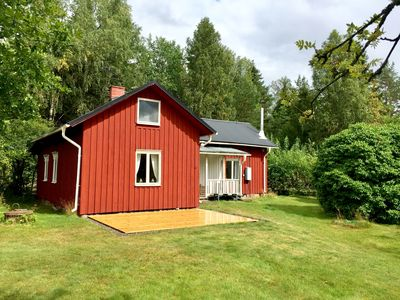 Photo for Sweden paradise small house in the countryside, 3min from the lake, rowing boat included