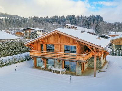 Photo for Megève Beautiful luxury chalet brand new 8 pers