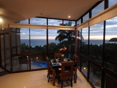 Beautiful ocean and pool views. Open the large sliding windows to hear the waves