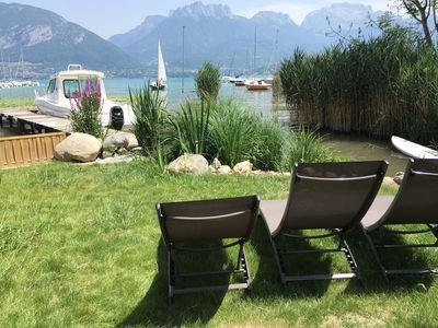 Photo for FEET IN THE WATER, Sevrier, House, Private access lake and pontoon. Fairy, 5Pers