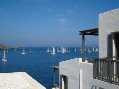 Terrace view - the Aegean sea