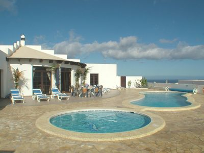 Photo for Large luxury villa with 2 private heated pools