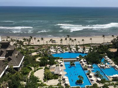 Photo for Beautiful 1 Bedroom Beach front property accommodates 4 people