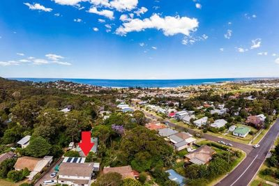 Aerial shot of Thirroul NSW region.