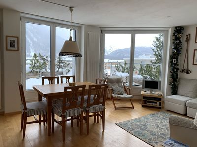 Photo for Lovely apt in Samedan, only 8 min to St Moritz