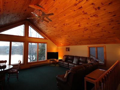 Photo for Rustic Lakefront Chalet