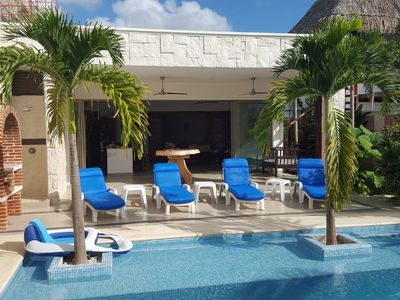 Photo for Beautiful private, secure home in quiet neighborhood with your own pool in