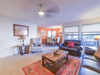 Photo for Highly desired Eastside 1st floor - expanded patio and great Mountain Views!