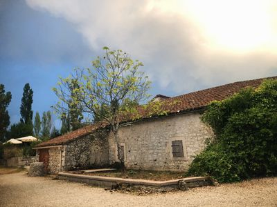 Photo for Beautiful 4 bedroom stone farmhouse in the French countryside