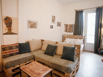 Photo for Cozy studio room with balcony in the city center