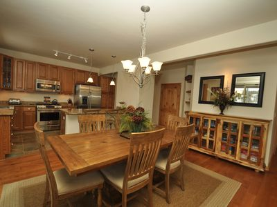 Photo for Heated Pool! Steps to dining & shops, sledding hill views!