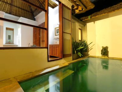 Photo for 1 BR Villa near Ubud with kitchen, private plunge pool, paddy fields view