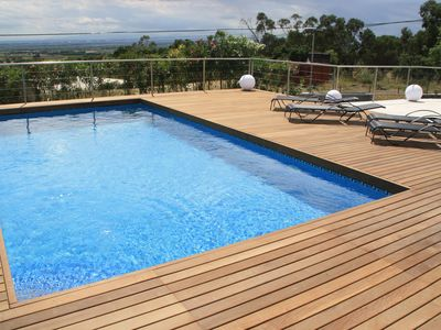 Photo for Magnificent villa with swimming pool and sea view for 8 people
