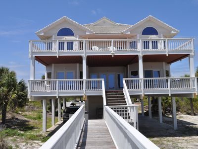 "Photo for ""DIVINE PORPOISE"", A Gorgeous Beachfront Vacation Home on St. George Island"