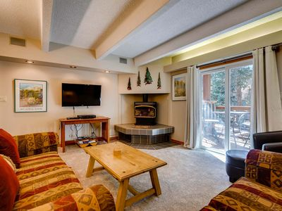 Photo for 7th Night Free! Wi-Fi, Gas Fireplace, Private Shuttle, Walk to Peak 9 & Main St