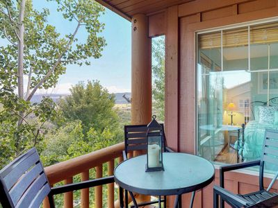 Photo for NEW LISTING! Cozy condo w/shared hot tub & pool, great skiing & boating nearby