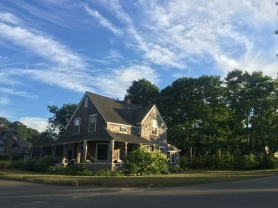 Photo for Large sunny house on Nashawena Park in Oak Bluffs, short walk to beach and town