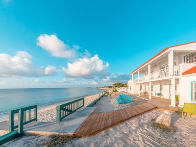Photo for Gorgeous Newly Renovated Caribbean 5 Bedroom House Right on the Beach!