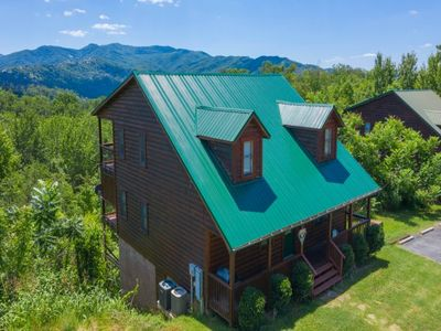 Photo for ake in incredible views in this beautifully decorated 2 BR/2 BA log chalet with all the amenities.