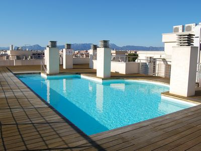 Photo for 128B - Beautiful penthouse with sea views in a central area, panoramic pool