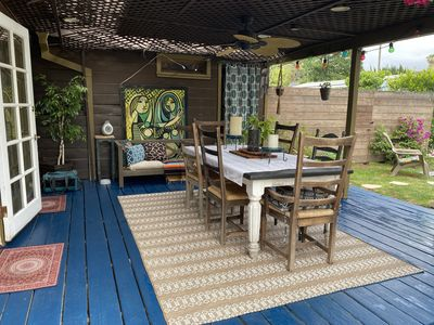 Photo for Bohemian bungalow with a private pool