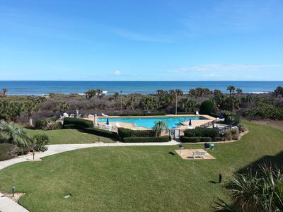 Photo for Panoramic ocean views from the 3rd floor corner balcony of Surf Club 1, 2308