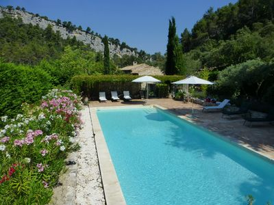 Photo for Large farmhouse in Oppède in the Luberon park with swimming pool and quiet