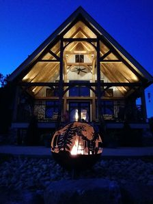 Photo for Beautiful  Timber Frame Guesthouse on our 50 acre farm in the foothills of WNC