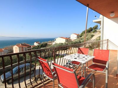 Photo for Two bedroom apartment with terrace and sea view Duće (Omiš)