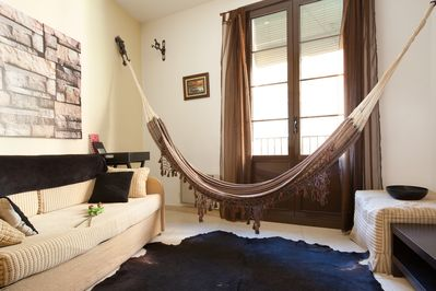"""""""ACOMODIS"""" apartments - Great hammock in the living room for our nice guests :)"""