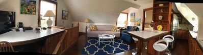 Panoramic view or the living area. Second floor