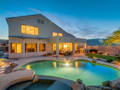 Photo for Modern 4 Bedroom 2.5 Bath Home With Secluded Backyard+Sparkling Heated Pool+Spa!