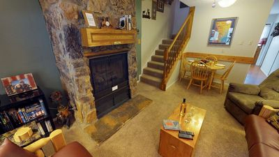 Photo for Valley Condo #112 - Fiber optic high speed WiFi, Washer/Dryer, Gas Fireplace, Community Hot Tubs, Pl