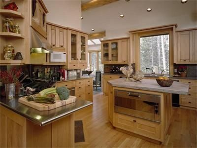 State of the art kitchen the will accommodate more than one cook at a time.