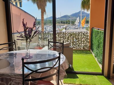 Photo for Argelès-sur-Mer Luxury apartment facing the marina air conditioning / wifi