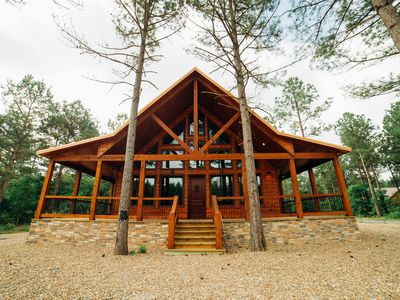 Photo for One of these Nights Cabin - NEW! 1 BR Gorgeous Honeymoon Lodge for 2