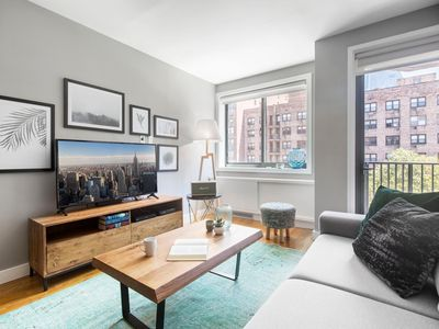 Photo for Chic Central Chelsea 1BR w/ Balcony, Gym, Doorman by Blueground